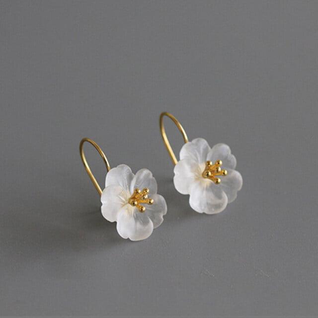 Sakura Women's Drop Earrings Earrings Women Jewelry Gem Color : 1|2|3