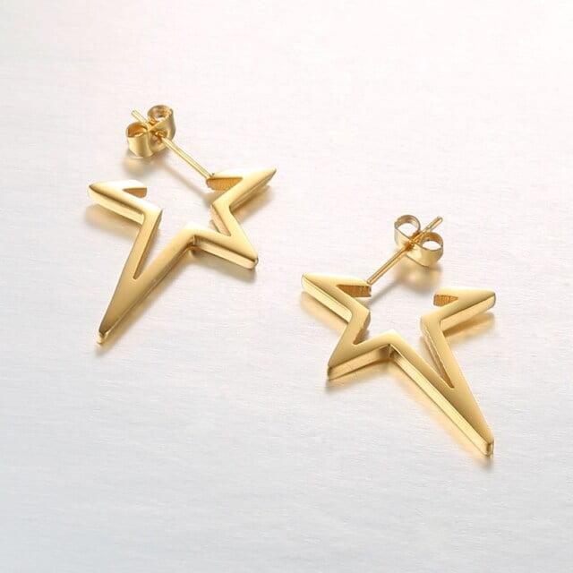 Women's Modern Star Shaped Earrings Earrings Women Jewelry Color : Gold|Rose Gold|Silver