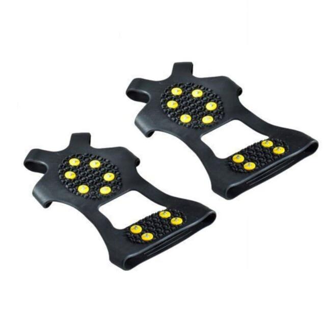 Pair of Studs Anti-Skid Ice Grips Shoe Accessories Shoe Grips Size : 18 x 11 cm / 7.09 x 4.33 inch 20 x 12.5 cm / 7.87 x 4.92 inch 21 x 13.5 cm / 8.27 x 5.31 inch