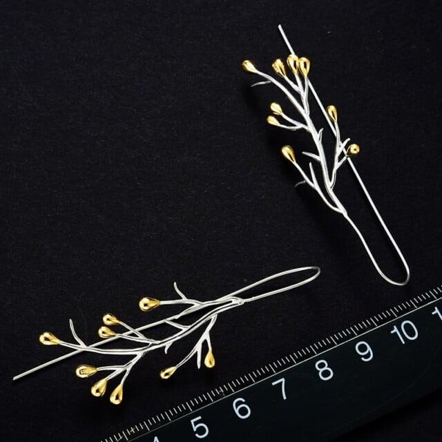 Sterling Silver Earrings Tree Drop Earrings Earrings