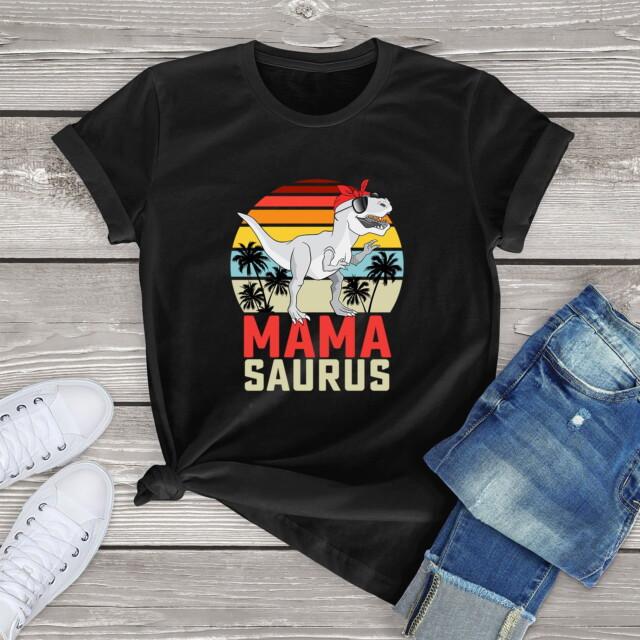Mama Saurus Vintage Women's Short Sleeve T-Shirt T-Shirts