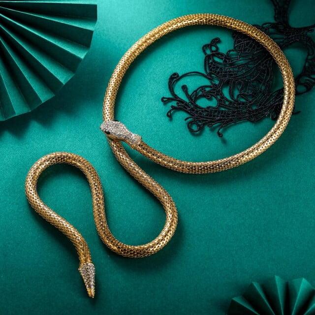 Choker Snake Necklace Goth Women Halloween чокер Collares Aesthetic Animal Jewelry Neck Chain Collier Femme Gargantilla Mujer